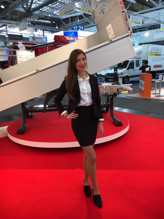 Messehostess Tire Technology Expo Hannover
